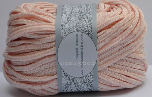 Pale Pink cotton Chunky Tape yarn 100g ball